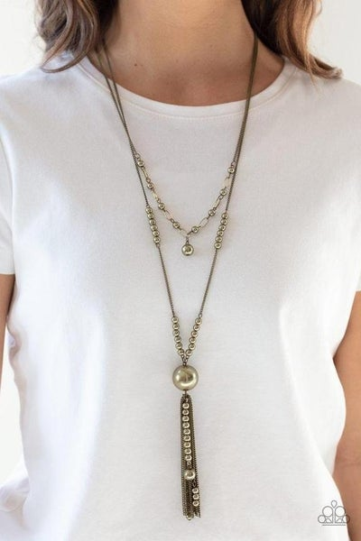 Abstract Elegance - Brass Necklace