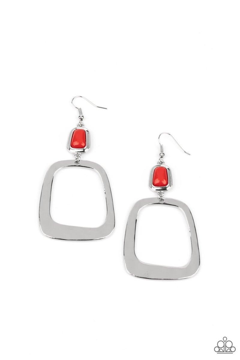 Material Girl Mod - Red Earrings