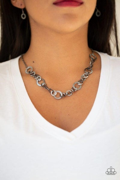 Move It On Over - Gunmetal Necklace