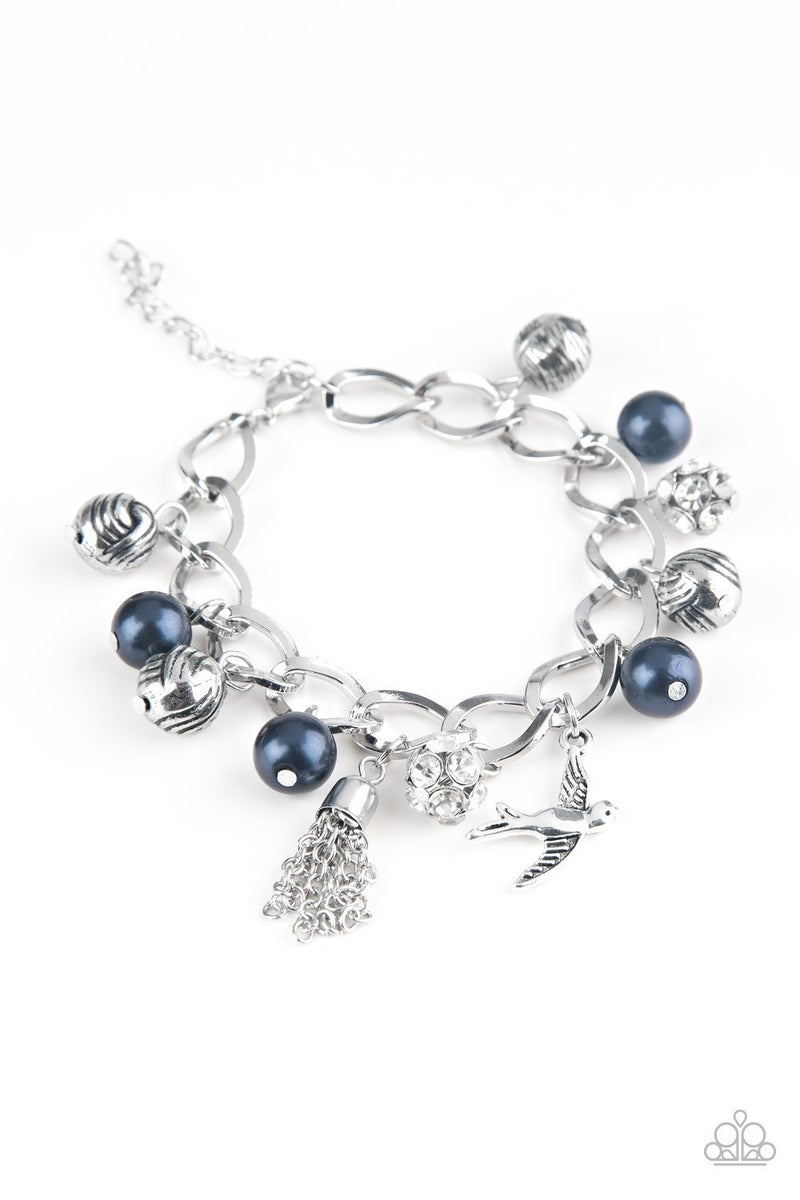 Lady Love Dove - Blue Clasp Bracelet