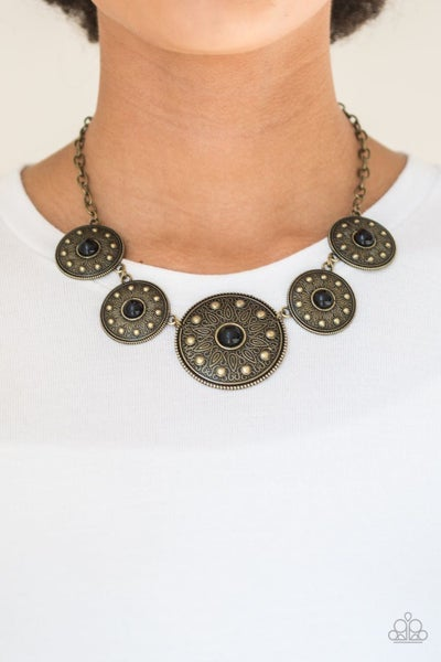 Hey SOL Sister - Brass Necklace