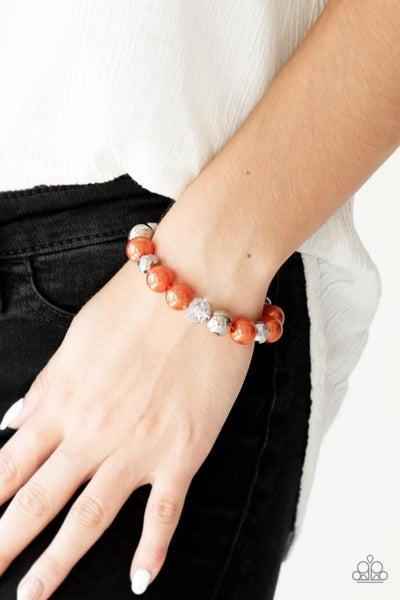 Very VIP - Orange Stretchy Bracelet