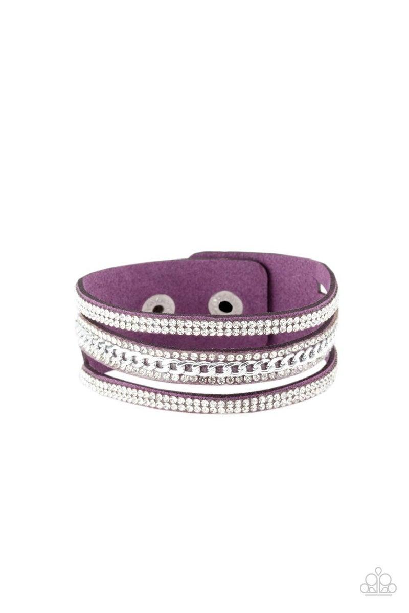 Rollin In Rhinestones - Purple Snap Wrap