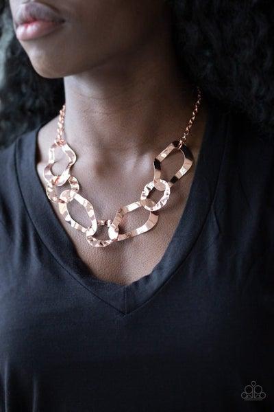 Capital Contour - Copper Necklace