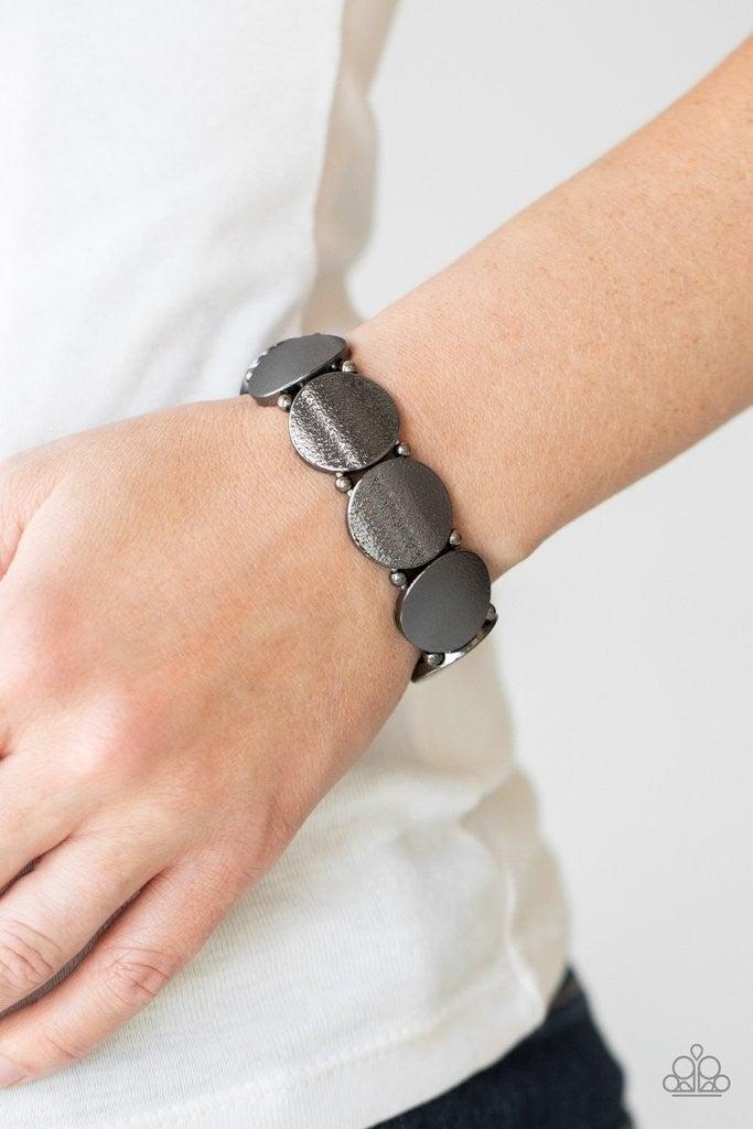 Metallic Spotlight - Gunmetal Stretchy Bracelet