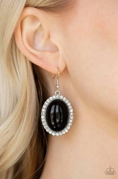 Celebrity Crush - Black Earrings