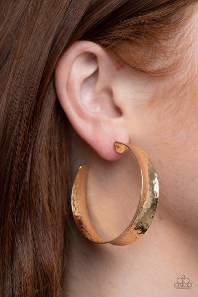 Fearlessly Flared - Gold Hoop Earrings