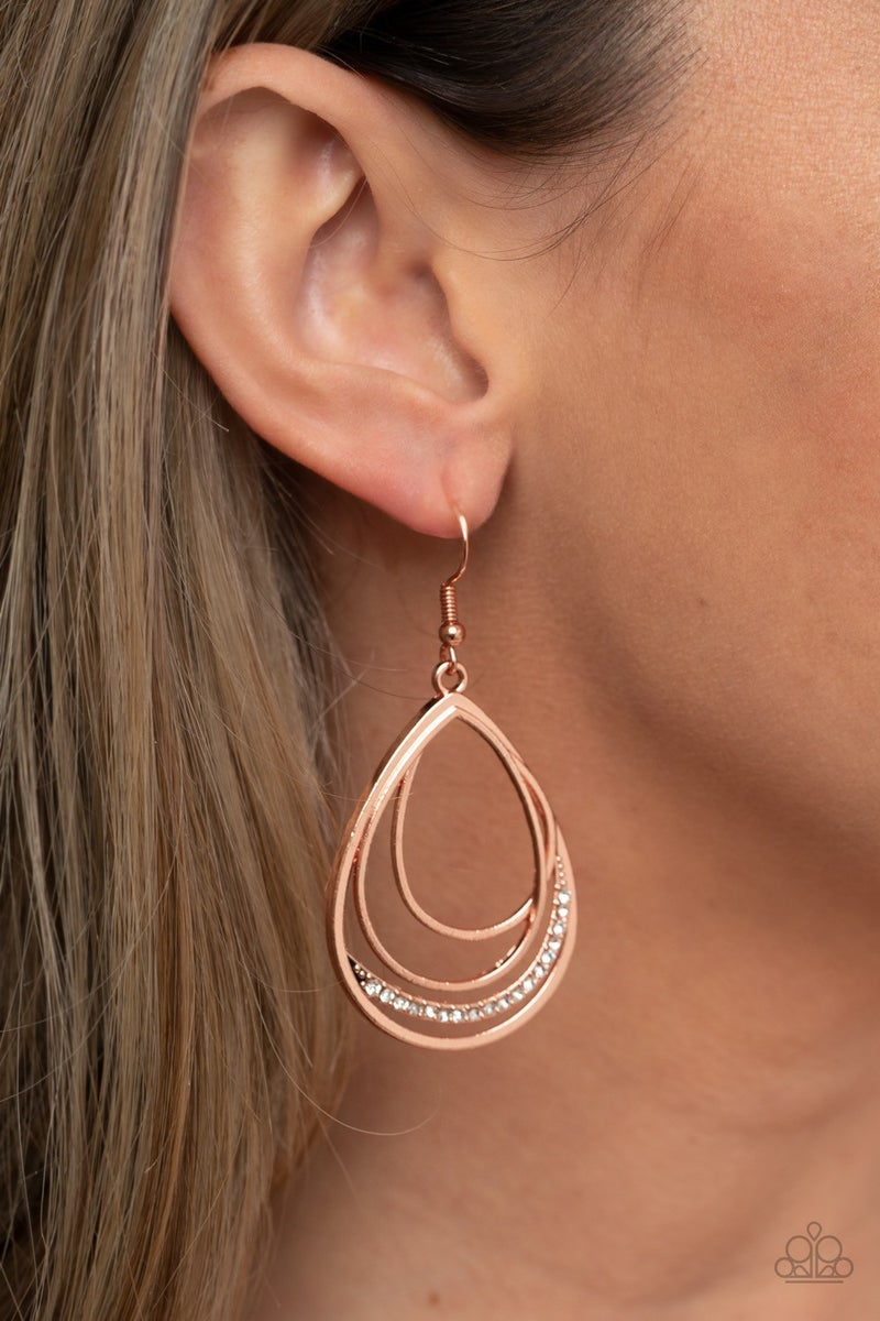 Outrageously Opulent - Copper Earrings