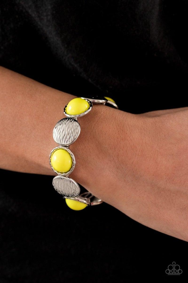 Boardwalk Boho - Yellow Stretchy Bracelet