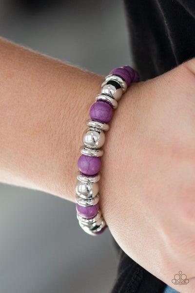 Across the Mesa - Purple Stretchy Bracelet