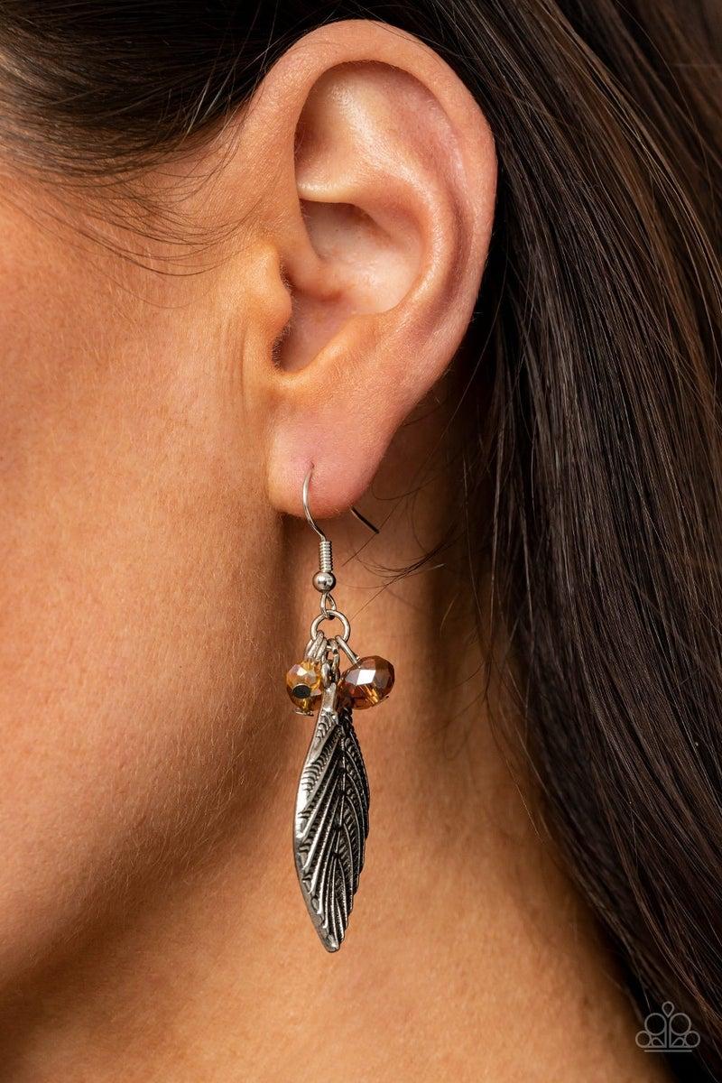 LEAF It To Fate - Brown Earrings