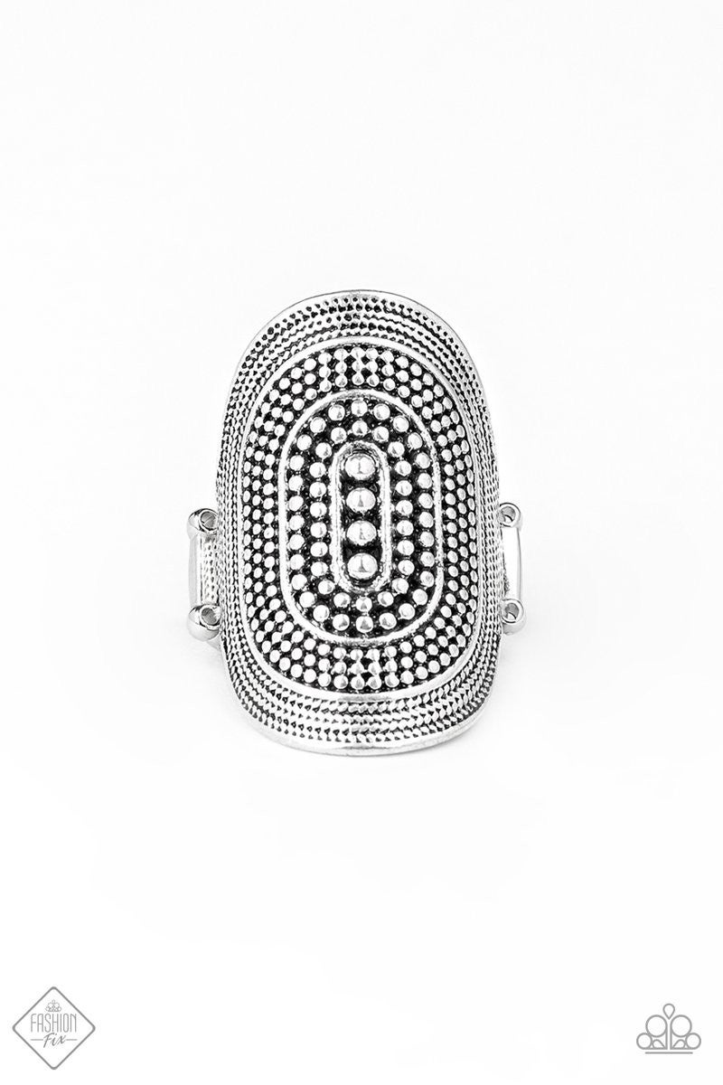 Dotted Decor - Silver Ring