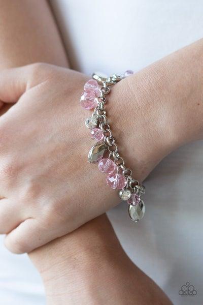 Dazing Dazzle - Pink Clasp Bracelet