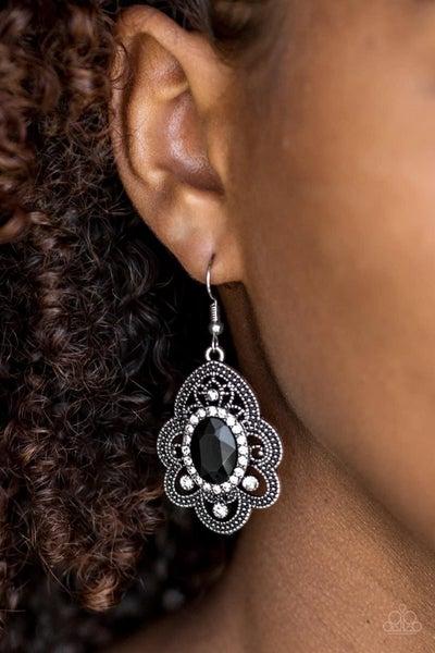 Reign Supreme - Black Earrings