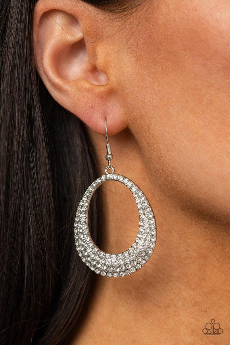 Life GLOWS On - White Earrings