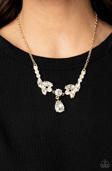 Unrivaled Sparkle - Gold Necklace