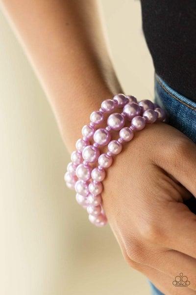 Total Pearl-fection - Purple Clasp Bracelet