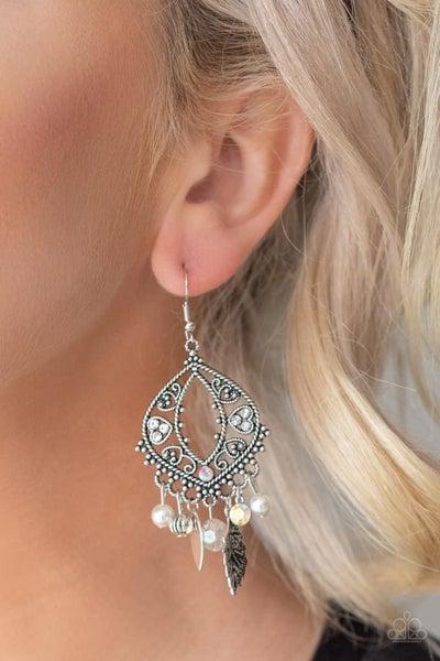 Garden Picnic - White Earrings