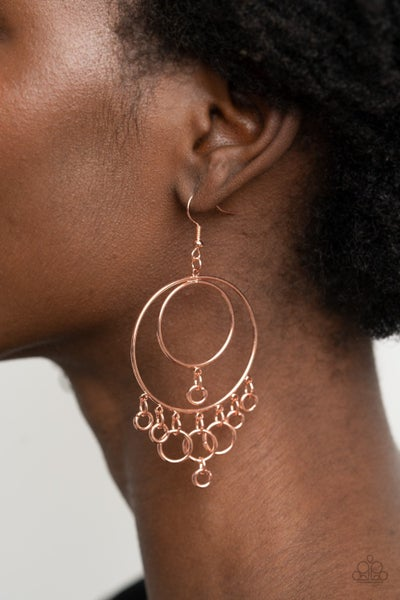 Roundabout Radiance - Copper Earrings