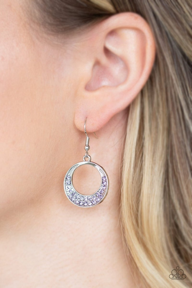 Socialite Luster - Purple Earrings
