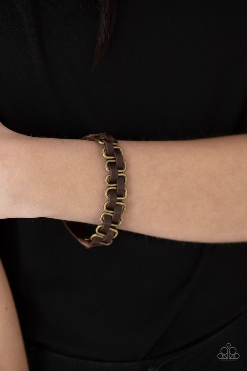 Gone Rogue - Brass Urban Bracelet