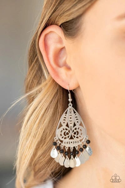 Mermaid Mojito - Black Earrings