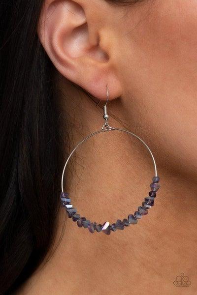 Glimmering Go-Getter - Purple Earrings