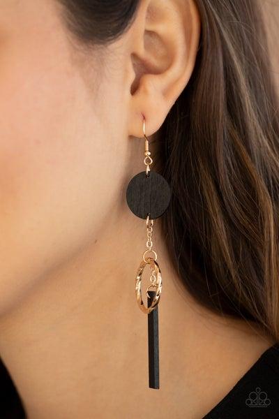 Raw Refinement - Gold Earrings