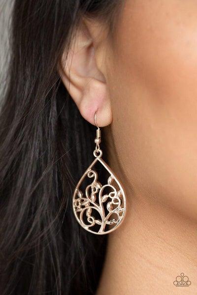 Enchanted Vines - Rose Gold Earrings