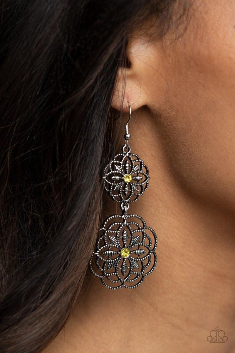 Mandala Mecca - Yellow Earrings