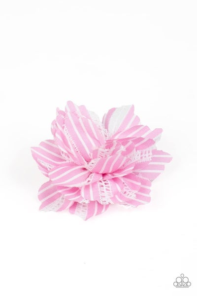 STRIPE For The Picking - Pink Hair Clip