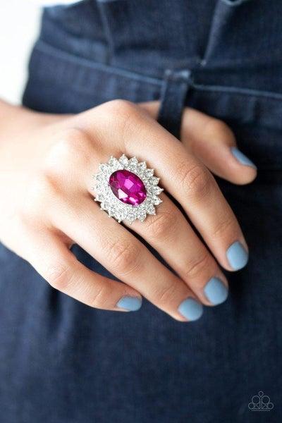 Secret Garden Glow - Pink Ring