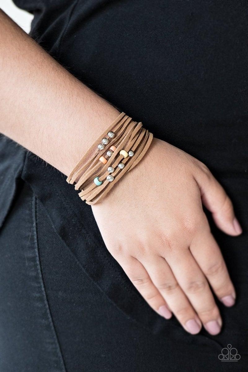 Colorfully Coachella - Multi Clasp Bracelet
