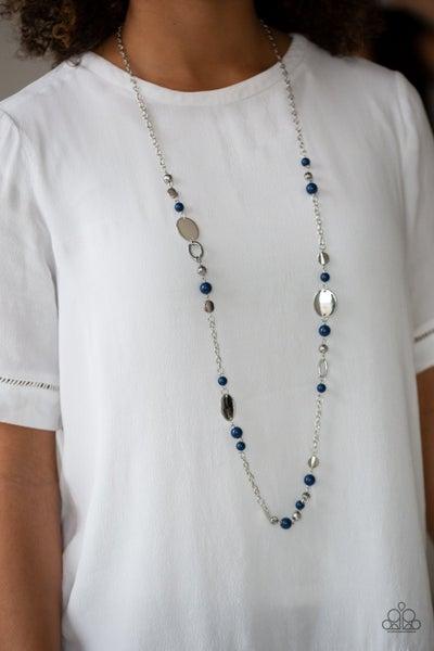 Serenely Springtime - Blue Necklace