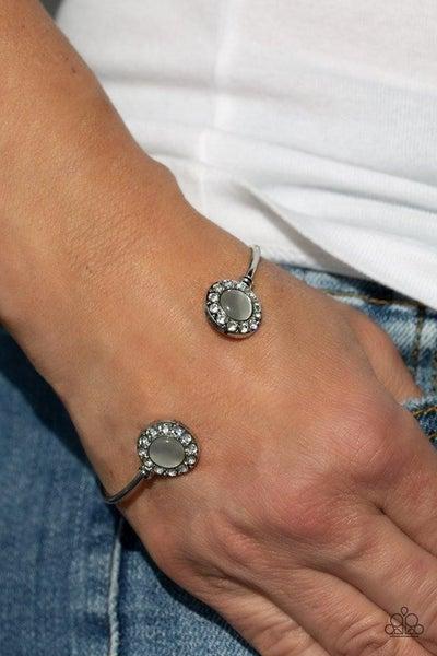 Instant Illumination - White Cuff Bracelet