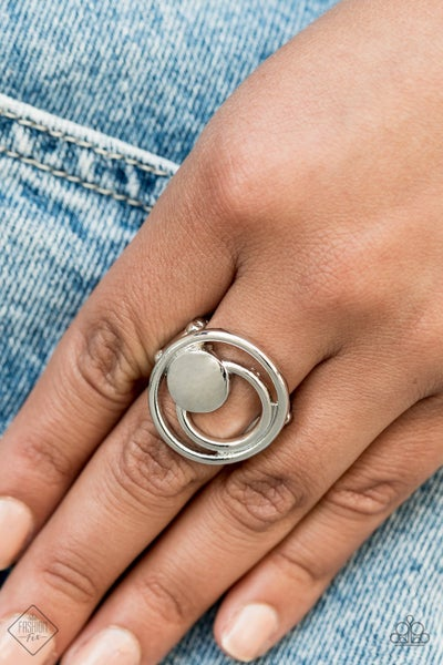 Edgy Eclipse - Silver Ring