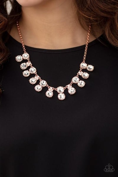 Top Dollar Twinkle - Copper Necklace