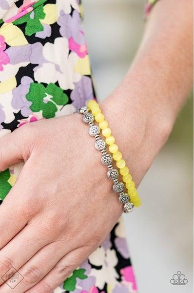 Dewy Dandelions - Yellow Stretchy Bracelet - August 2020 Fashion Fix