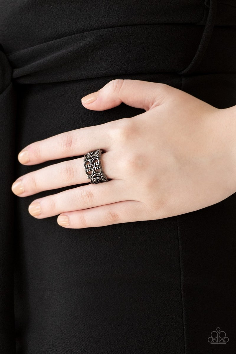 Tell Me How You Really FRILL - Gunmetal Ring