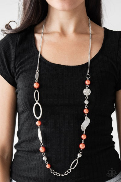 All About Me - Orange Necklace