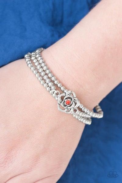 Perennial Princess - Orange Stretchy Bracelet