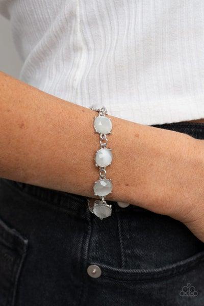 Ms. GLOW-It-All - White Clasp Bracelet