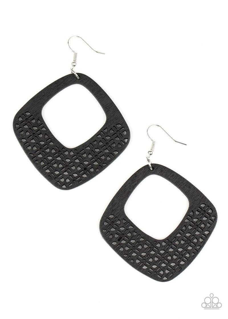 WOOD You Rather - Black Earrings
