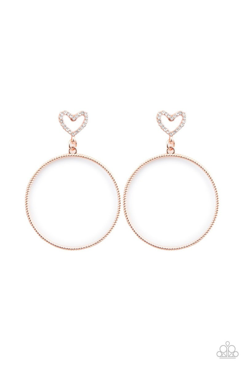 Love Your Curves - Copper Earrings