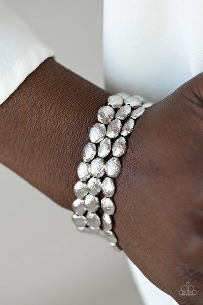 Basic Bliss - Silver Stretchy Bracelet