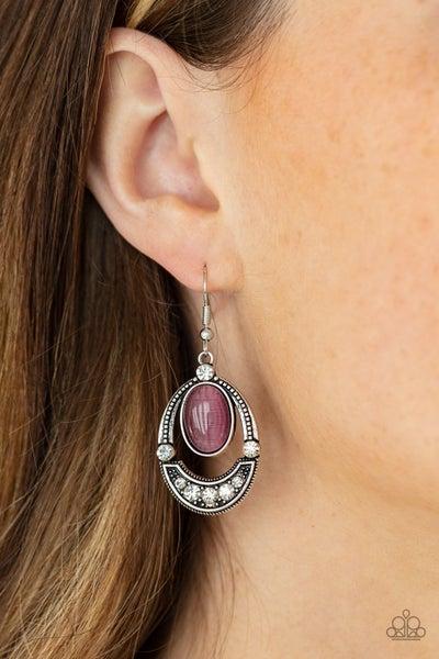 Serene Shimmer - Purple Earrings