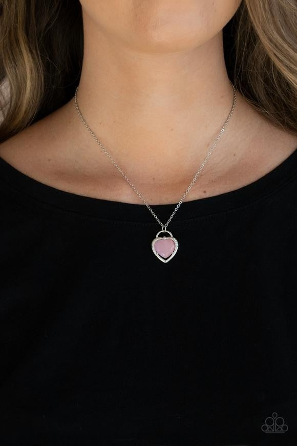 A Dream is a Wish Your Heart Makes - Pink Necklace