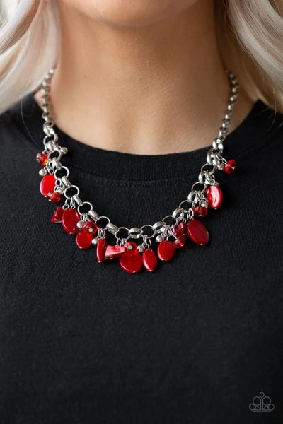 I Want to Sea the World - Red Necklace