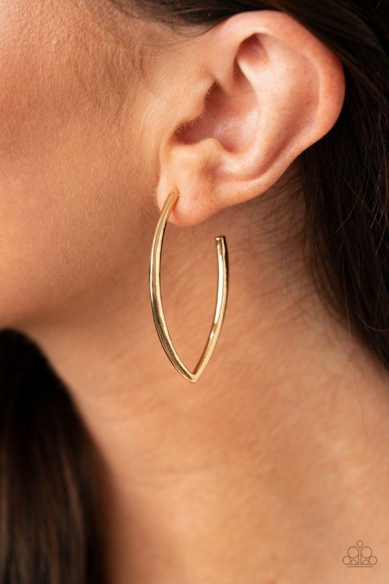 Point-Blank Beautiful - Gold Hoop Earrings