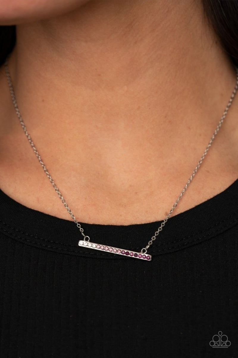 Sparkly Spectrum - Purple Necklace